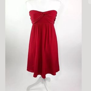 THE LIMITED Red 100% Silk Strapless Club Dress 6